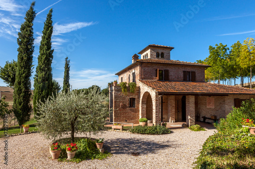 Canvastavla Tuscan villa