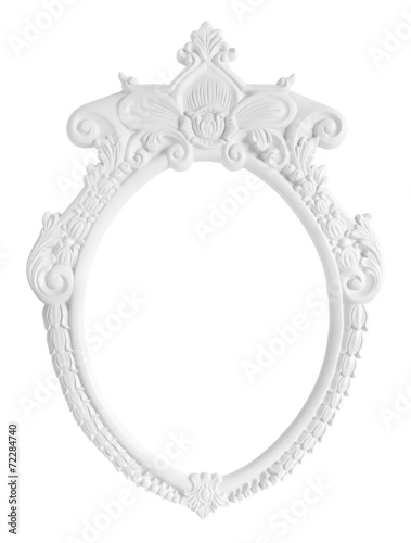 White Oval Photo Frame isolated on white background - Buy this stock ...