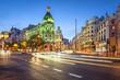 Madrid, Spain Gran Via Shopping Street Cityscape