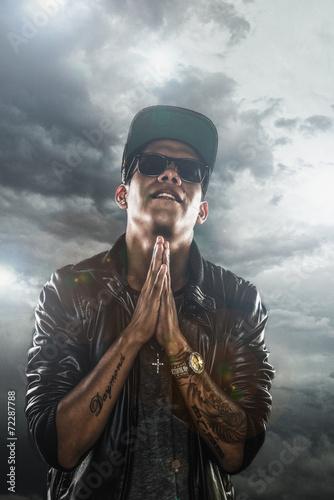 Fotografie, Obraz  Boy Praying (rapper)