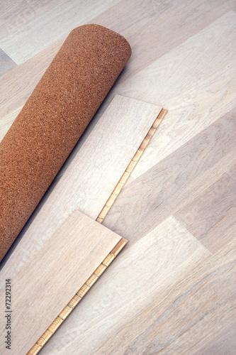 Fotografia, Obraz  New oak parquet