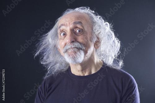 Poster  Portrait eines älteren Mannes