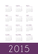2015 Calendar. Spanish