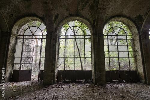 Aluminium Prints Old abandoned buildings Old abandoned Orangery