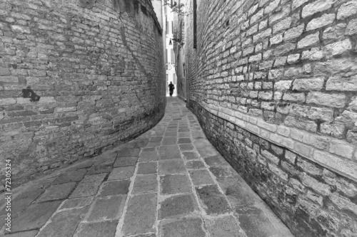 Wąska uliczka Wenecja,Włochy.