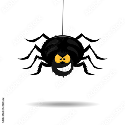 Fotobehang Draw Evil and scary spider