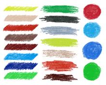 Rainbow Vector Brush Strokes Collection.