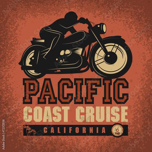 Vintage Motorcycle adventure poster Wallpaper Mural
