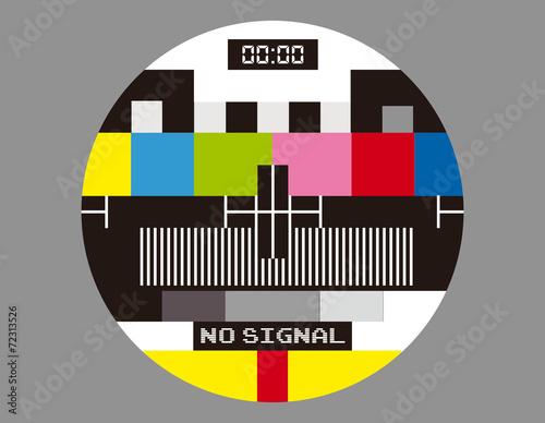 Fotografia, Obraz  No TV Signal Monoscope