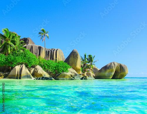 Foto op Canvas Tropical strand Shore Paradise Seascape