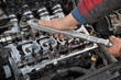Automotive, cylinder head service two camshaft, socket wrench