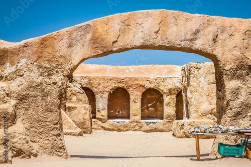The houses from planet Tatouine - Star Wars film set,Nefta Tunis Wallpaper Mural