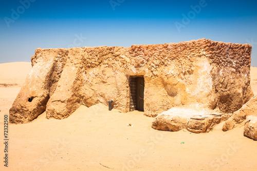 Photo  The houses from planet Tatouine - Star Wars film set,Nefta Tunis