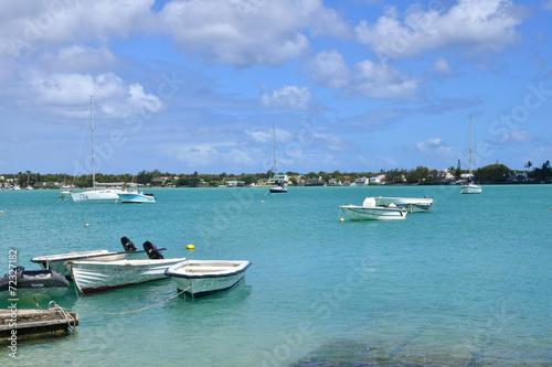 Deurstickers Australië picturesque city of Grand Bay in Mauritius Republic