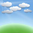 Vector illustration of sky and clouds