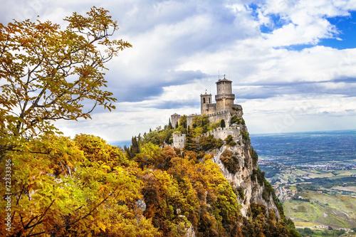 autumn in San Marino, Italy