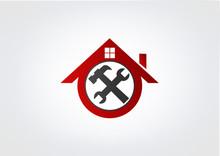 Home Renovations Business Logo Hose Renovation Abstract Symbo