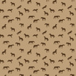 Horse Runs, Hops, Gallops Isolated. Seamless Pattern.