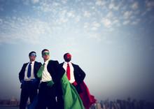 Superhero Businessmen New York...