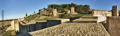 Panoramic of Badajoz battlements, Spain