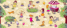 Big Seamless Pattern With Play...