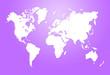 canvas print picture - Minimalistic world map illustration