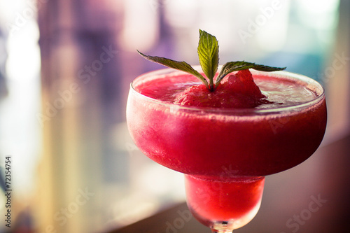 Fotografie, Obraz  Frozen Strawberry Daiquiri