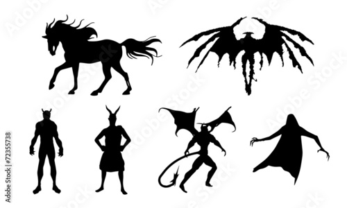 Foto demon halloween vector