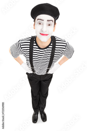 Fotografie, Obraz  Vertical shot of a joyful mime artist