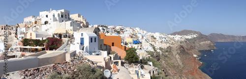 Poster de jardin Europe Méditérranéenne ギリシャ サントリーニ島