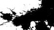 Ink blots are falling and spread