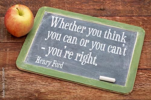 Fotografía  Cita de motivación por Henry Ford