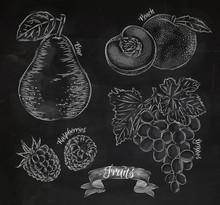 Fruit Pear, Peach, Raspberry, ...