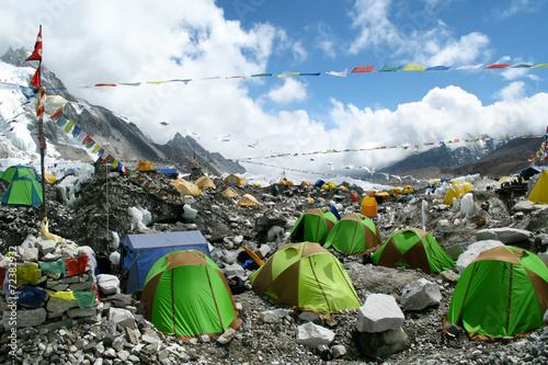 Wall Murals Nepal Tents at Everest Base Camp