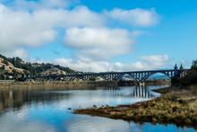 The Rogue River Bridge At Gold Beach, Oregon