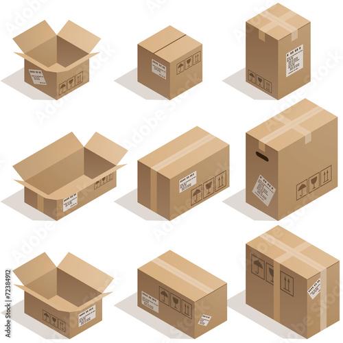 Photographie  Boîtes en carton