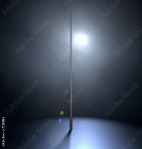 Stripper Pole Spotlit Wall mural