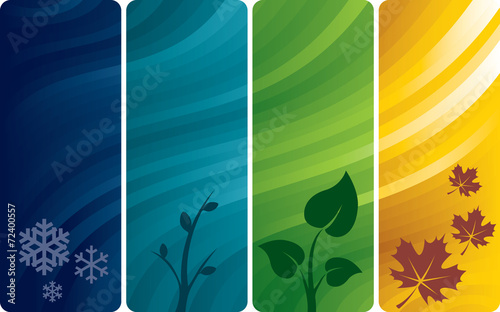 Fotografie, Obraz  Four abstract backgrounds