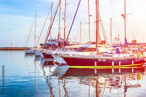 Keuken foto achterwand Schip Yachts in port