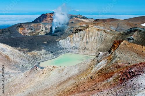 Deurstickers Vulkaan Ebeko Volcano, Paramushir Island, Kuril Islands, Russia