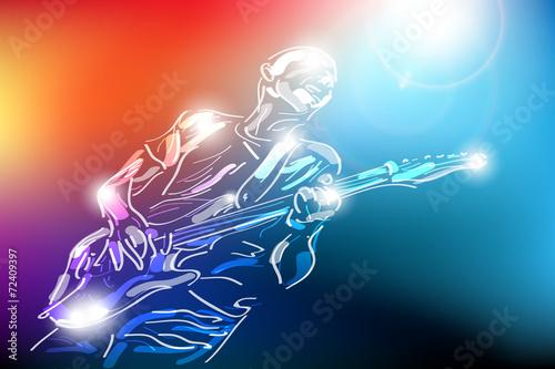 gitarzysta wektor