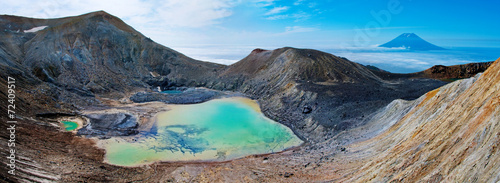 Photo sur Toile Volcan Ebeko Volcano, Paramushir Island, Kuril Islands, Russia