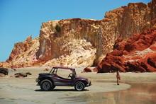 Buggy Au Pied De La Dune Dans Le Nordest Brésilien