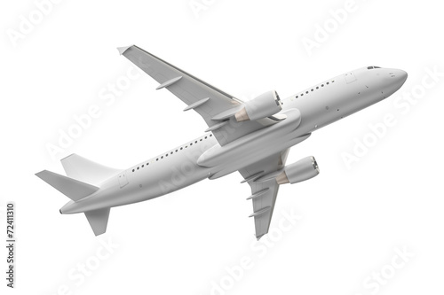 Fotografie, Obraz  Airplane isolated on a white background