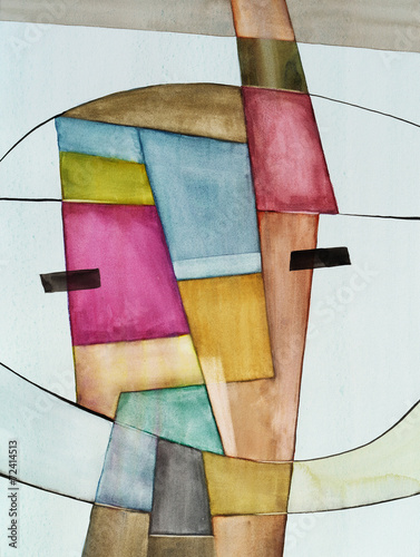 Juliste  an abstract watercolor painting
