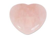Precious Gem On White Background, Rose Quartz Heart