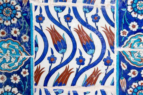 Iznik tiles in Rustem Pasa Mosque, Istanbul Poster