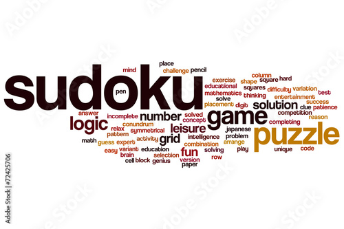 sudoku word cloud buy this stock illustration and explore similar