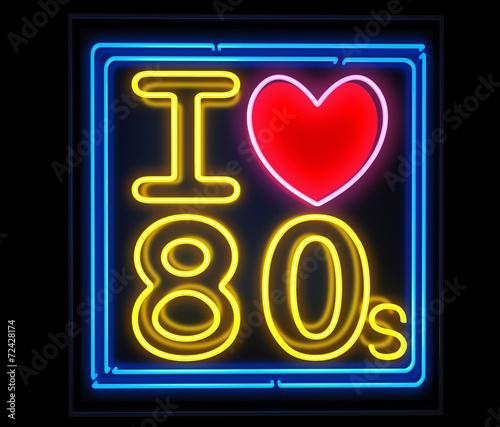 Fotografia  I love the 80s neon