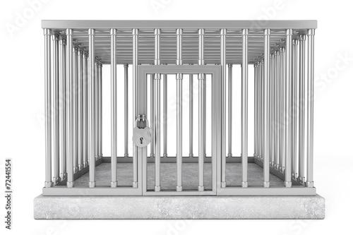 Fotografie, Obraz  Metal Cage with Lock
